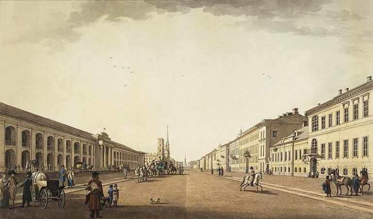 Невский проспект у Гостиного двора. 1799