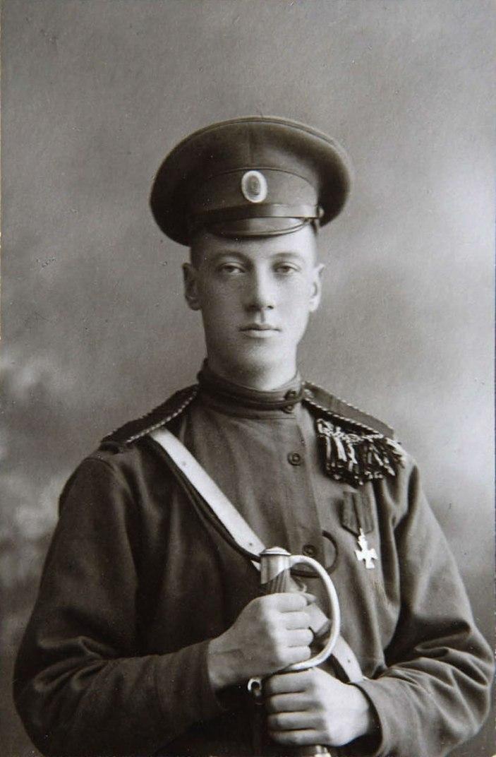 Николай Гумилев в военной форме
