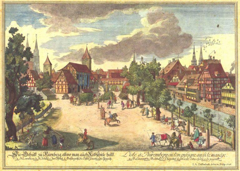Нюренберг в 1716 г.