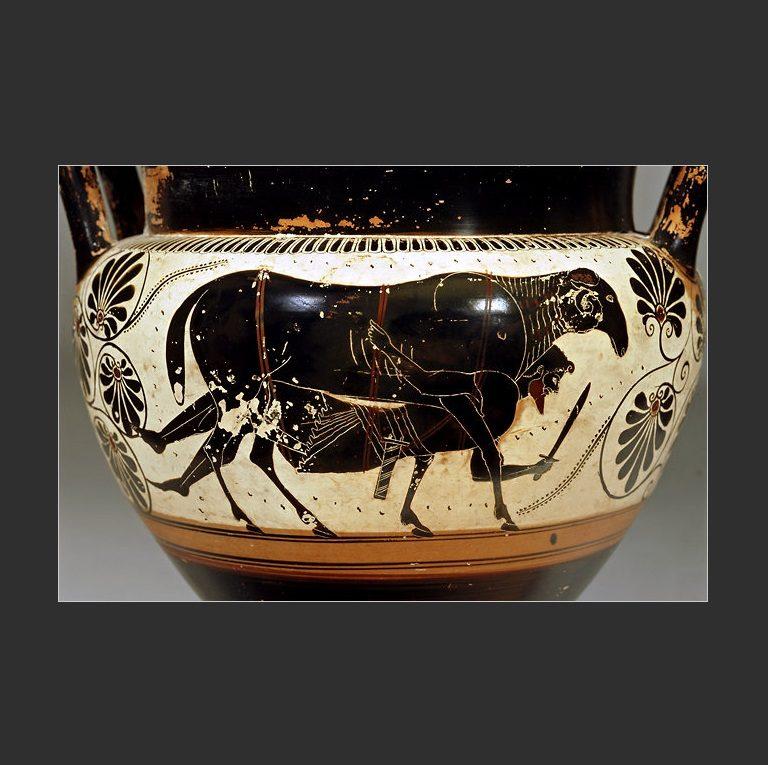 Одиссей и его спутники спасаются от циклопа Полифема