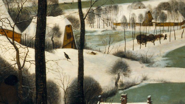Охотники на снегу. Деталь (ловушка)