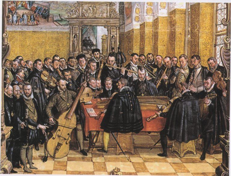 Орландо ди Лассо дирижирует капеллой герцога баварского