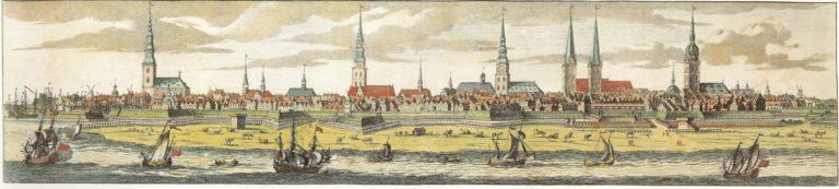 Панорама Гамбурга в 1682 г.