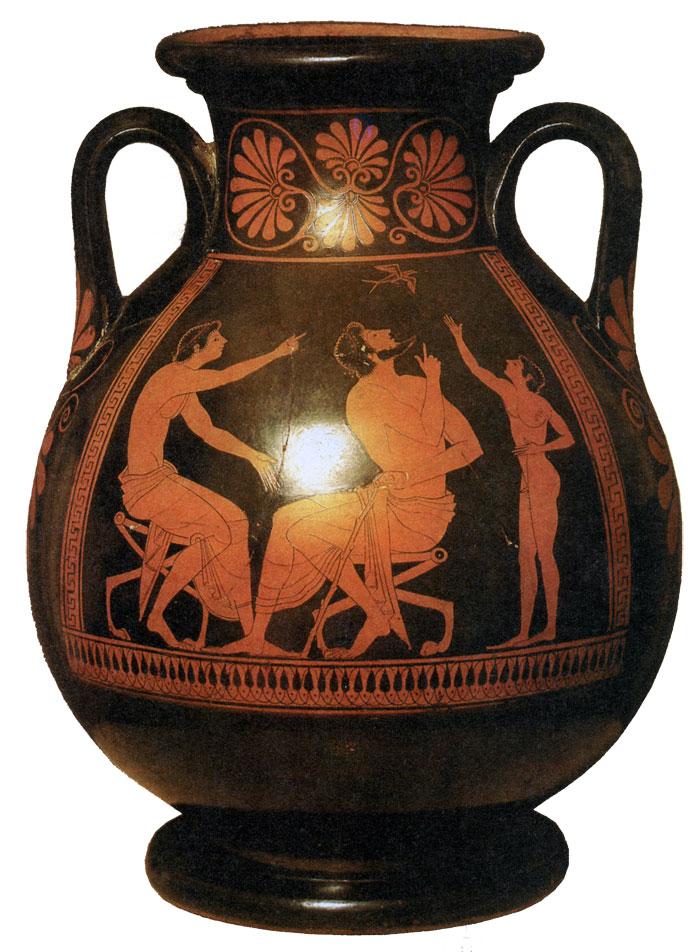 Пелика с ласточкой. VI в. до н.э.