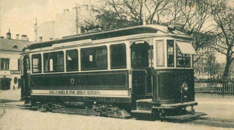 Первые электрические трамваи в Санкт-Петербурге. 1907