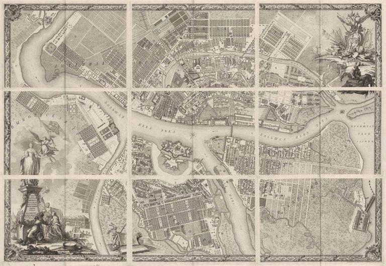 План столичного города Петербурга. 1753