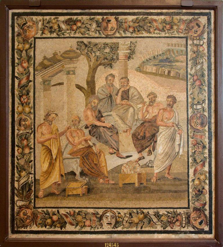 Мозаика «Платоновская Академия» из Помпей (I в. н.э.)