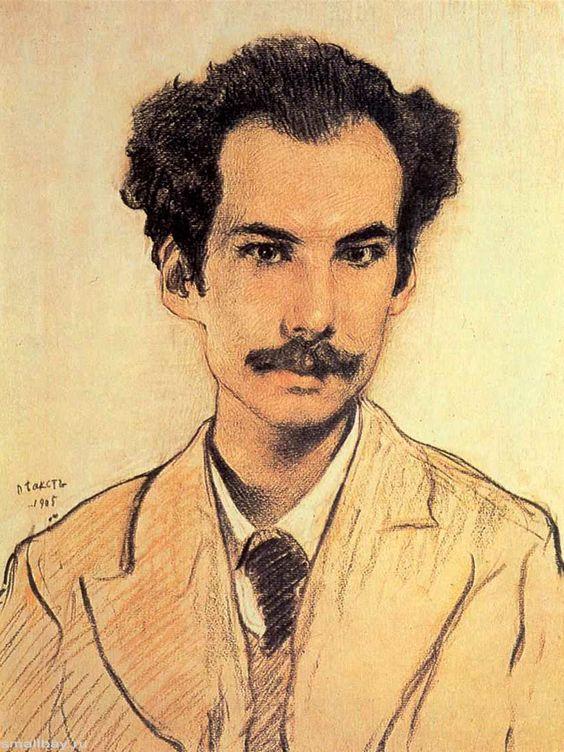 Портрет Андрея Белого. 1905.