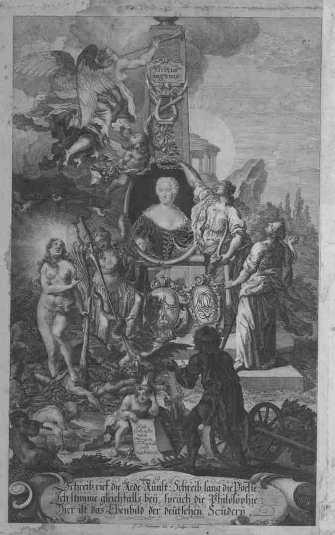 Портрет Марианы фон Цигер с аллегорическими фигурами (до 1759 г.)