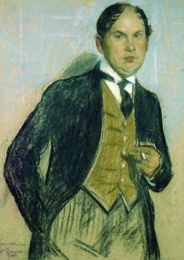 Портрет Владимира Ивановича Нарбута (1888 — 1938). 1914