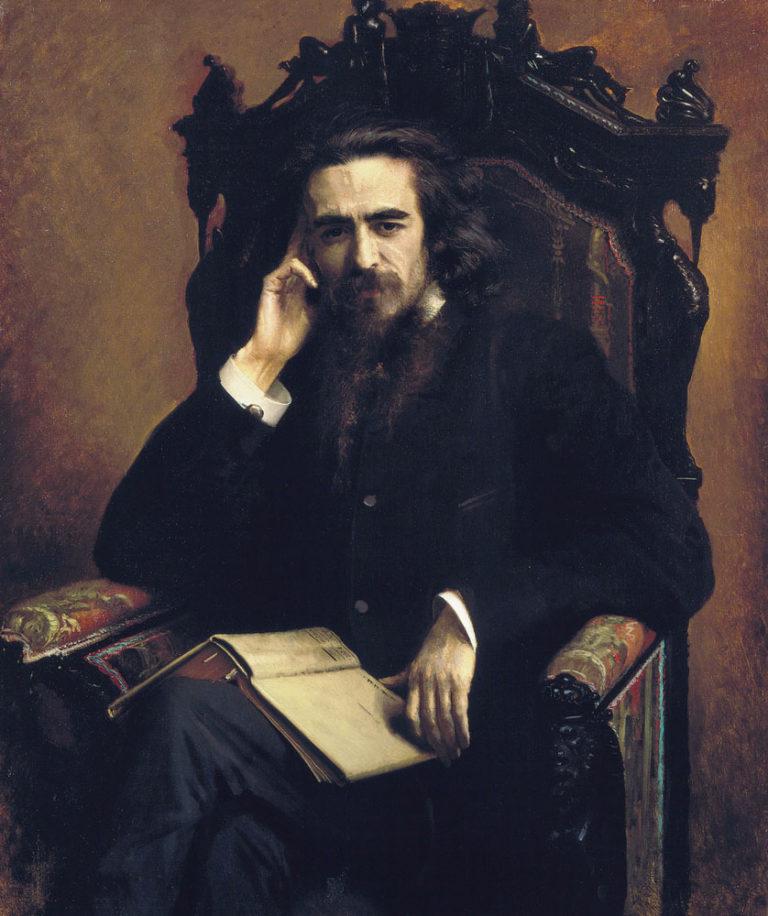 Портрет философа Владимира Сергеевича Соловьёва. 1885.