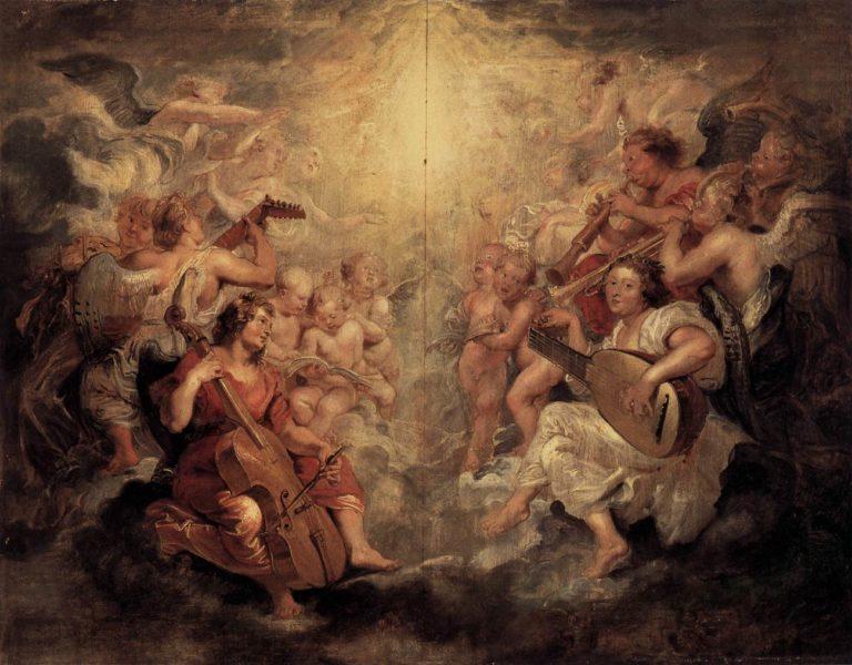 Поющие и играющие ангелы (ок. 1628 г.)