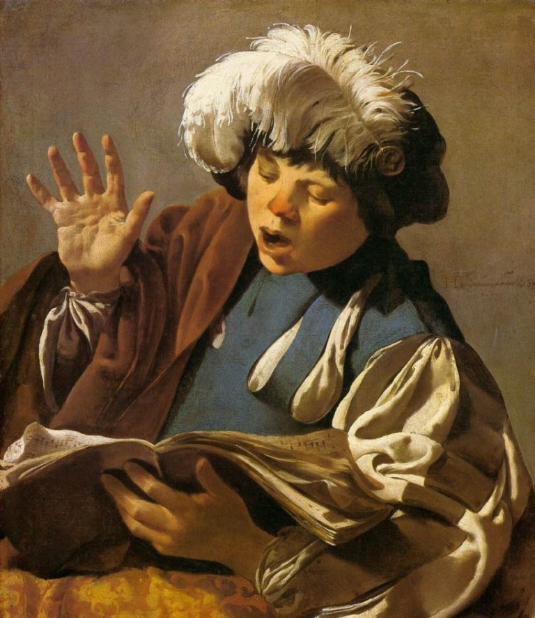 Поющий мальчик. 1627