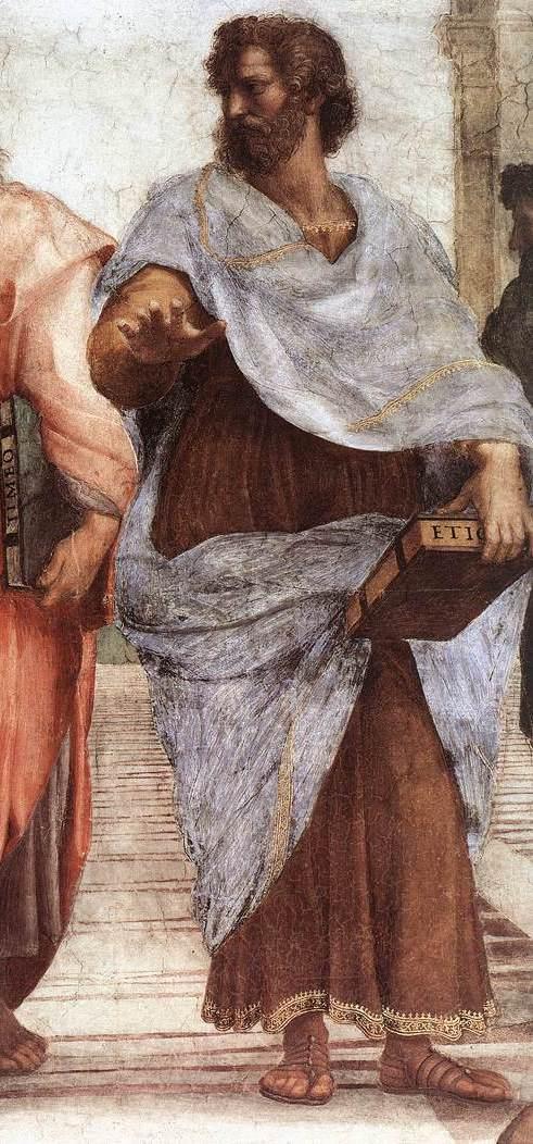 «Афинская школа» – Аристотель (1509 – 1510)