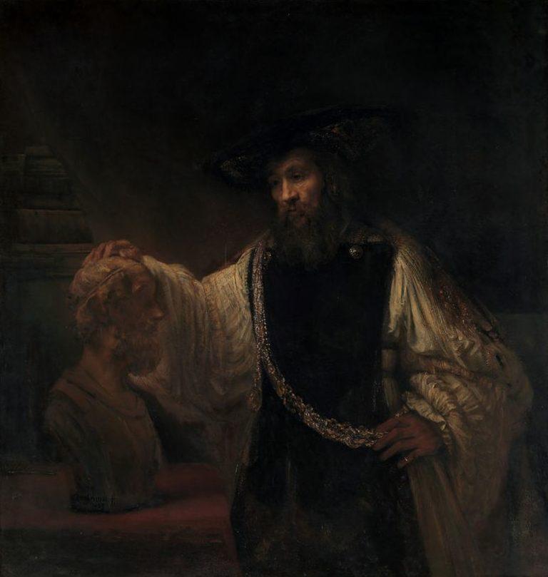 «Аристотель, созерцающий бюст Гомера» (1653)