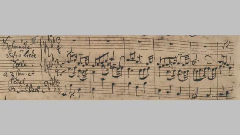Рукопись И.С. Баха «Schmücke dich, o liebe Seele»
