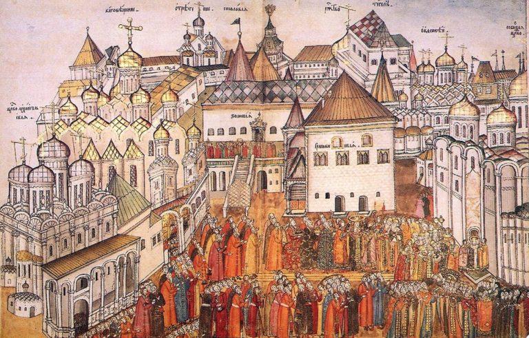 Шествие в Успенский собор в день венчания на царство Михаила Федоровича