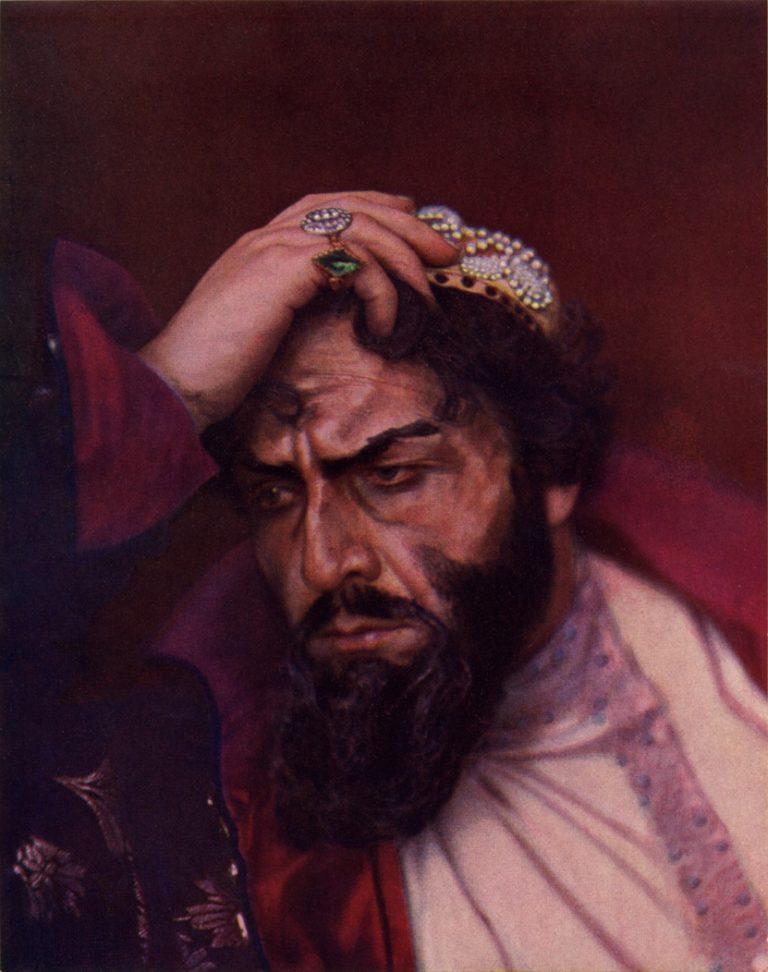 Федор Шаляпин в роли Бориса Годунова (1915)