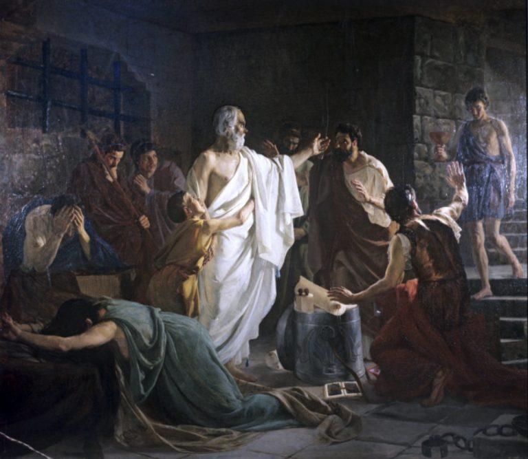 Сократ в темнице перед смертью