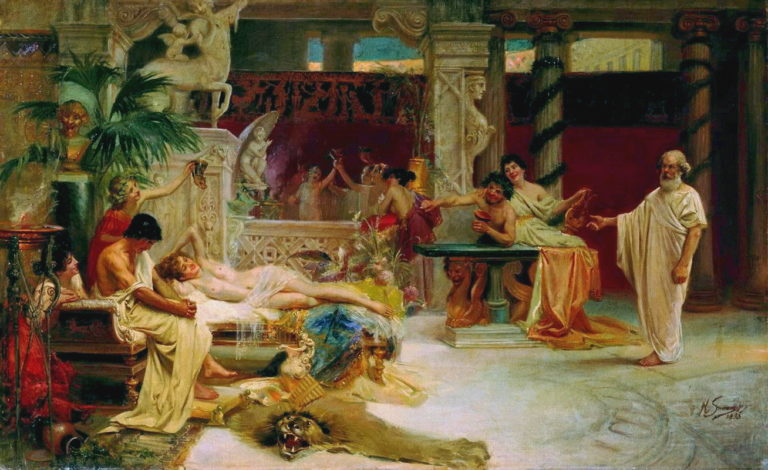 Сократ застает своего ученика Алкивиада у гетеры. 1873
