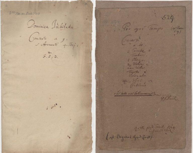 Титульные листы кантат BWV 12 и 21