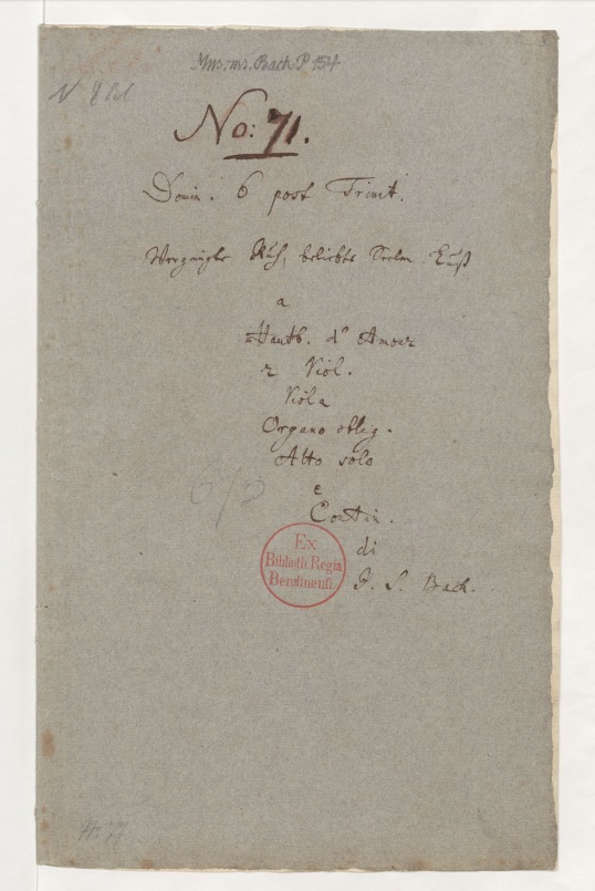 Титульный лист BWV 170