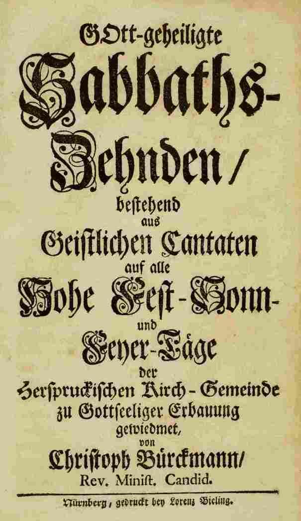 Титульный лист «Десятины» Кристофа Биркмана