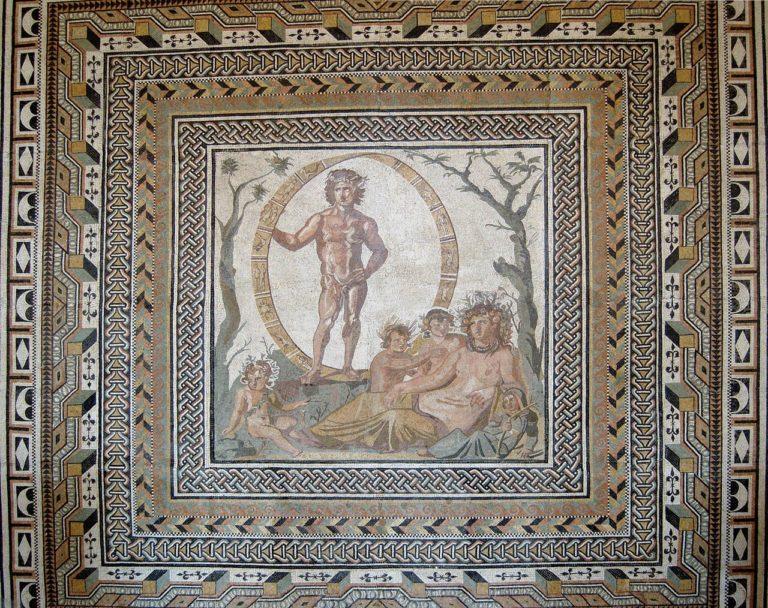 Уран и Гея с детьми. 200-250 г. н.э.