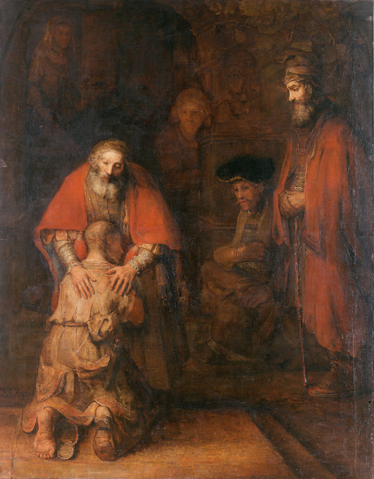 Возвращение блудного сына . 1666-1669