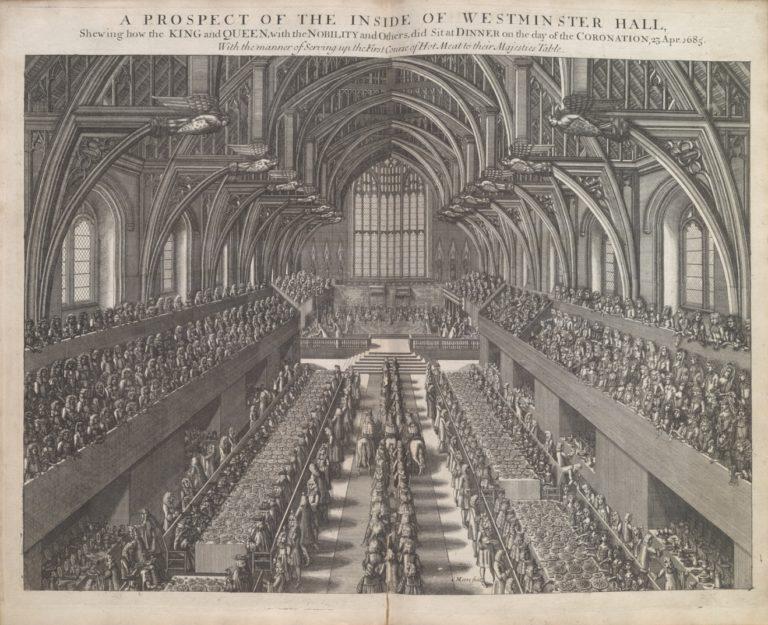 Зал Вестминстерского аббатства в день коронации английского Якова II 23 апреля 1685 г.