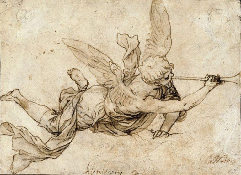 Ангел с последней трубой. XVII в.