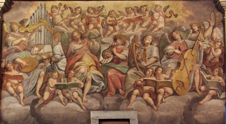 Ангелы, играющие на музыкальных инструментах. Ок. 1620