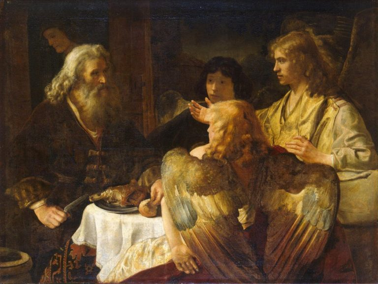 Авраам и три ангела. Конец 1630-х – начало 1640-х гг.