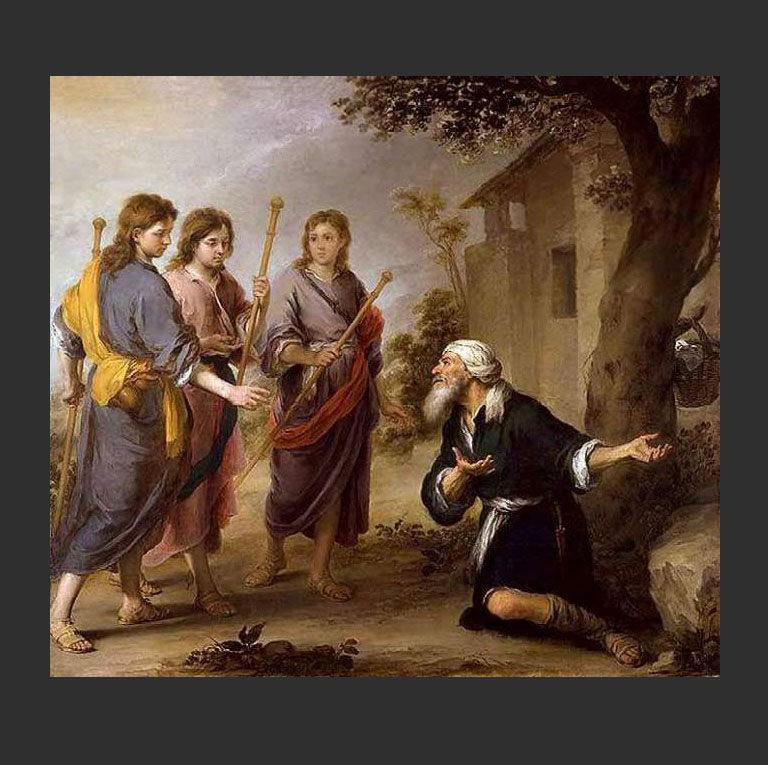 Авраам и три ангела. около 1670-74 гг.