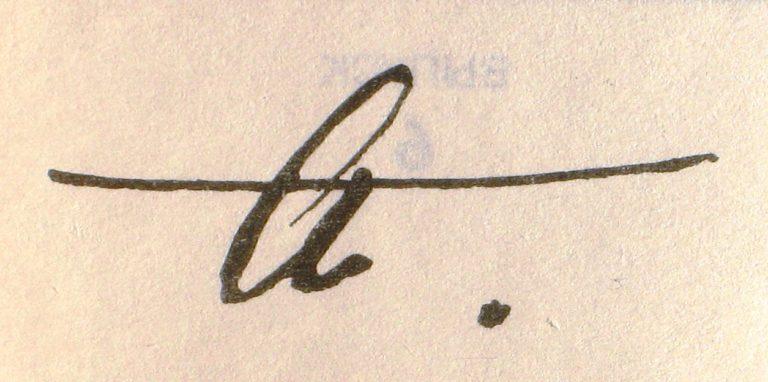 Автограф Анны Ахматовой