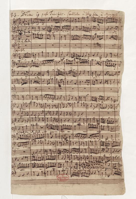 BWV 56. Ария 1. Бас