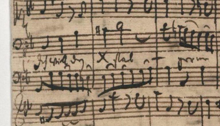 BWV 56. Первая ария баса и надпись «Xstab»