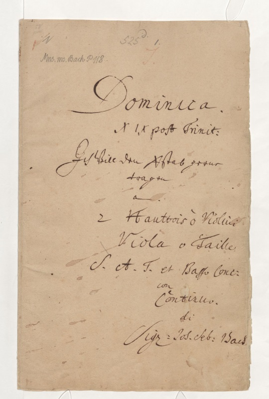 BWV 56. Титульный лист
