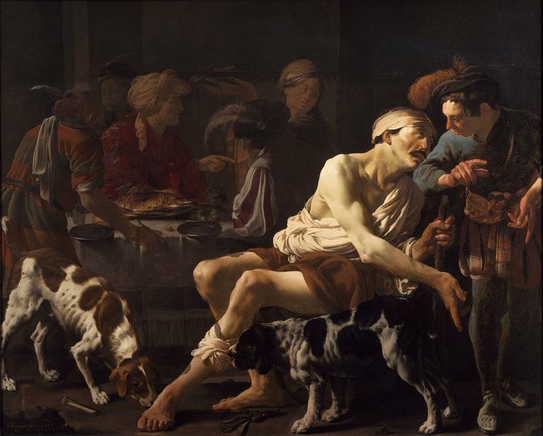 Богач и Лазарь. 1625
