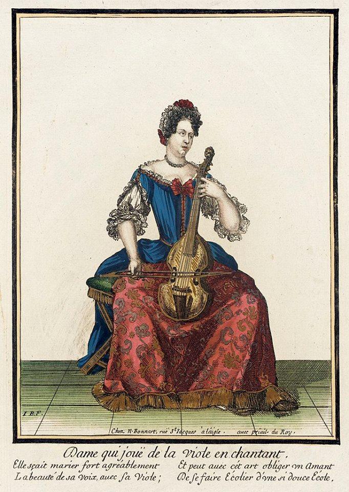 Дама с виолой. 1682