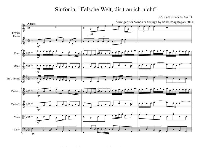 Falsche Welt, dir trau ich nicht. BWV 52