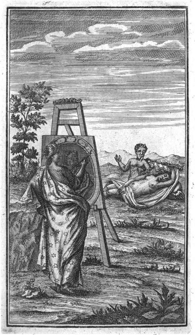 Фронтиспис III тома эротических и сатирических стихов Пикандера, 1732 г.