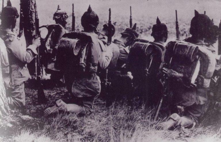 Германская пехота перед атакой