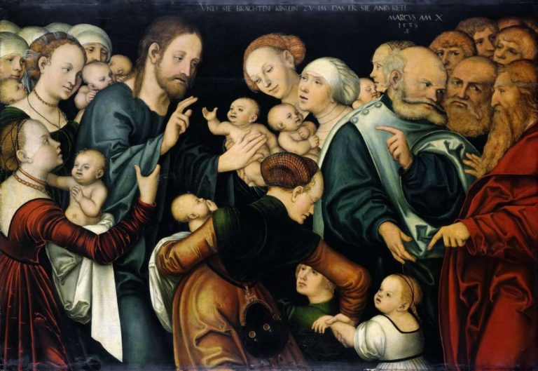 Христос благословляет детей. 1538
