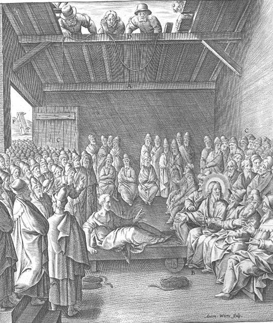 Христос исцеляет паралитика. 1593-1595