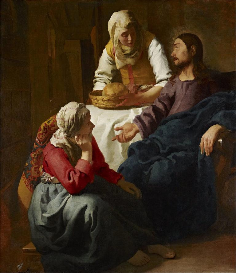 Христос в доме Марфы и Марии. 1654-1656