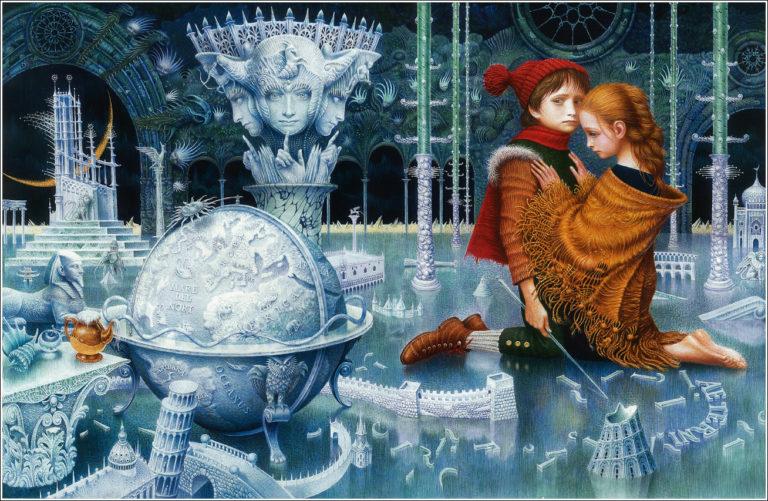 Герда и Кай во дворце Снежной королевы
