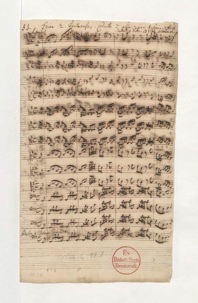 Первый лист первого номера BWV 174