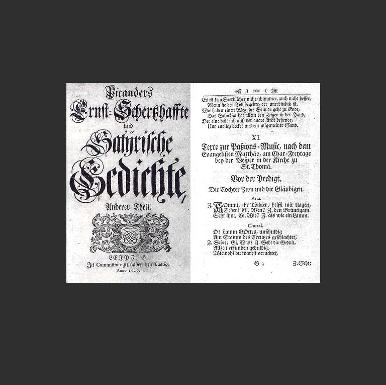 Сборник стихотворений Пикандера 1729 г.