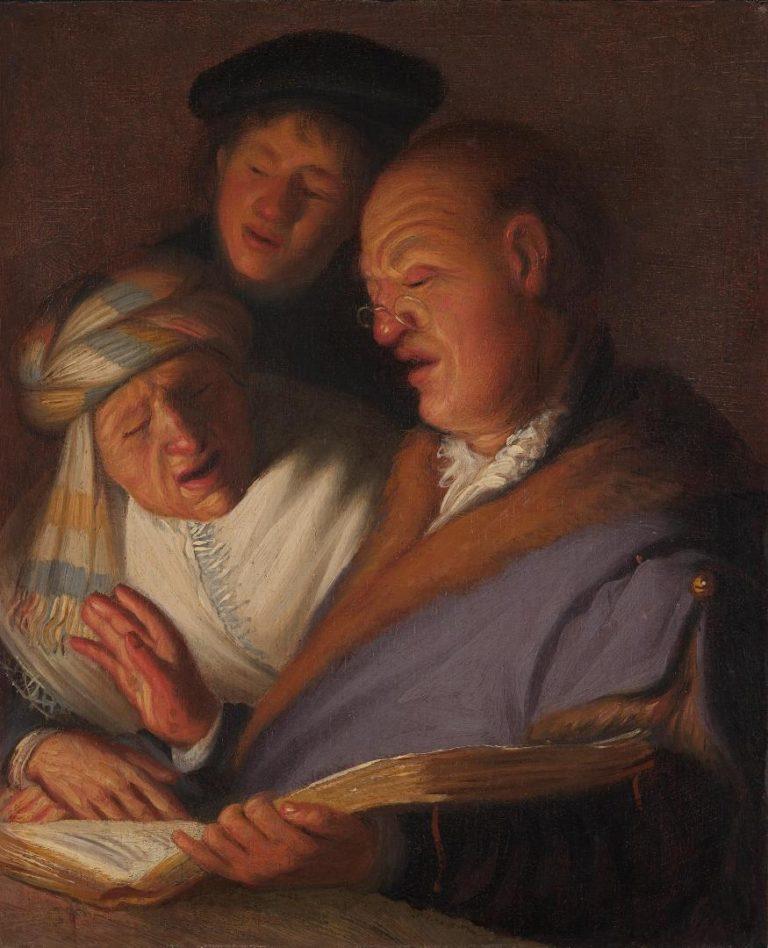 Три певца. Ок. 1624 г.